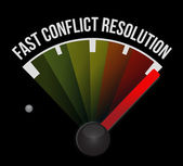 Fast conflict resolution — Stock Photo