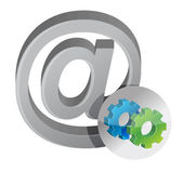 Internet sign and gears — Stock Photo