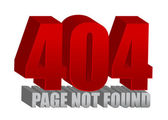 Red 404 error — Stock Photo