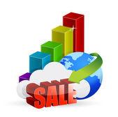 Globe graph globe sale — Stock Photo