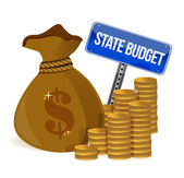 Money Bag with state budget — Stock Photo