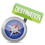 Compass destination guidance — Stock Photo #20329711