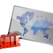 Stock Photo: Sale and world map