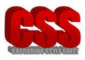 CSS text — Stock Photo