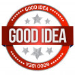 Good idea stamp — Stock Photo