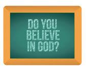 Do you believe in god blackboard — Stock Photo