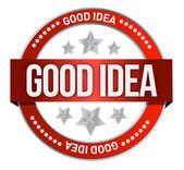 Good idea stamp — Stock Photo