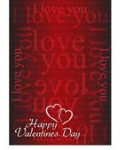Valentine card I love you — Stock Photo