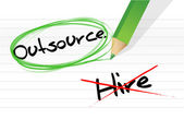 Choosing to Outsource instead of hiring — Stock Photo