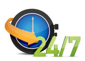 Watch 24 7 Concept — Stock Photo