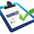 Married status question yes or no — Stock Photo