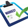 Married status question yes or no - Stock Photo