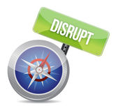 Disrupt on a compass — Stock Photo