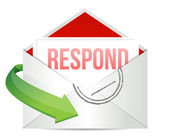 Respond envelope — Stock Photo