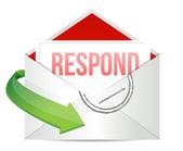 Respond envelope — Stock Photo