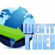 Identity theft globe sign — Stock Photo #20940009