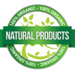 Pure Nature Green Sign — Stock Photo