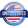 United States of America, USA seal — Stock Photo