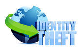 Identity theft globe sign — Stock Photo