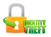 Secured identity theft Gold lock illustration — Stock Photo
