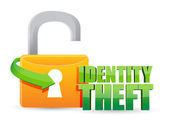 Unsecured identity theft Gold lock — Stock Photo