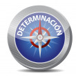 Determination Glossy Compass in Spanish — Stock Photo