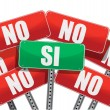 Yes and No signs in Spanish — Stock Photo #21024463