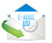 E-mail us Concept representing email — Stock Photo