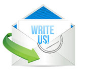 Write us Concept representing email — Stock Photo