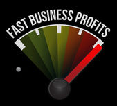 Compteur de vitesse rapide affaires bénéfices — Photo