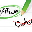 Online and offline selection options — Stock Photo