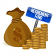 Retirement fund money bag — Stock Photo #21089339