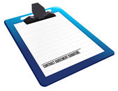 Contract agreement signature on a clipboard — Stock Photo