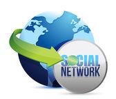 Social media globe — Stock Photo