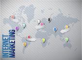 Internet marketing global network — Stock Photo