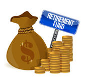 Retirement fund money bag — Stock Photo