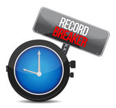 Clock with words Record Breaker — Photo