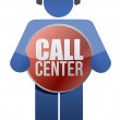 Call center icon — Stock Photo