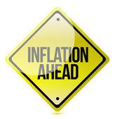 Let op - inflatie vooruit — Stockfoto