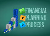 Financial planning process. Business graph — Stock Photo
