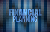Business concept: words financial planning, — Stock Photo