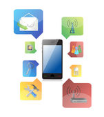 Smart phone with icons — Stock Photo