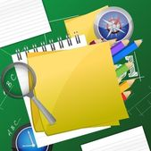 Office and student accessories graphic — Stock Photo