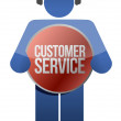 Customer support icon with headphones — Stock Photo #21270131