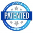 Patented intellectual property stamp - Foto Stock
