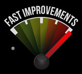 Fast improvement speedometer — Stock Photo