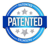 Patented intellectual property stamp — Stock Photo
