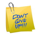 Do not give up post it — Stock Photo