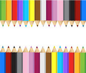 Color pencils banner frame — Stock Photo
