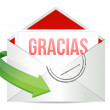 Thank You gratitude card envelope in spanish — Stock Photo